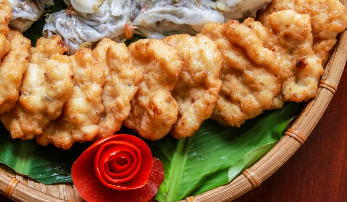 Ha Long squid cake.  Photo: Sun Group