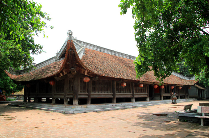 Dinh Bang Communal House still retains almost the original architecture 300 years ago.  Photo: Phan Duong