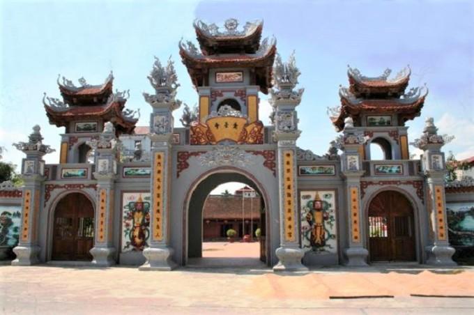Tam Quan Gate at Kim Dai Temple.  Photo: Dinh Bang Village/Facebook