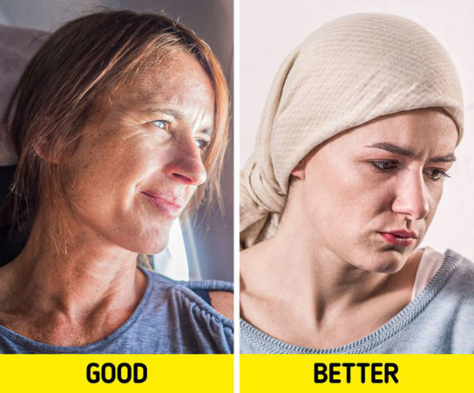 Nên che chắn mái tócĐiều tương tự bạn có thể làm với mái tóc của mình. Thay vì để đầu trần lên máy bay, bạn có thể quấn thêm một chiếc khăn lên tóc để giữ mái tóc trông gọn gàng hơn suốt hành trình. Nếu không muốn tóc bị khô, bạn có thể thoa lên đó một lớp dầu dưỡng tóc. Ảnh: Deposit Photos